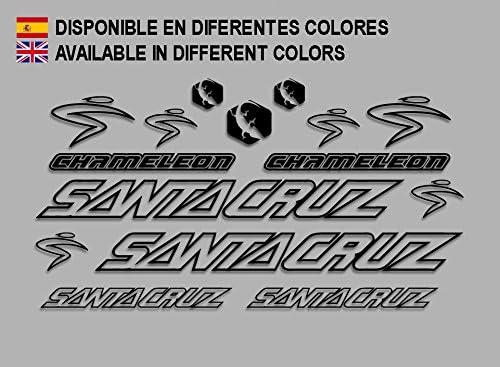 Ecoshirt K0-ZEVW-32VQ Pegatinas Santa Cruz Chamaleon Bike F134 Stickers Aufkleber Decals Autocollants Adesivi, Verde: Amazon.es: Coche y moto