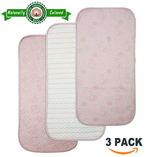 - BlueSnail Organic Cotton Waterproof Changing Pad Liners 3PK, Super Absorbent and Ultra Soft.