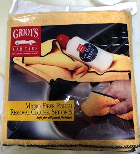 UPC 712038767588, 3 Pack - 9 Towels - Premium Thick Microfiber Towels 15 3/4 x 15 3/4 inch - Griot's Garage 11115 Micro Fiber Polish Removal Cloth