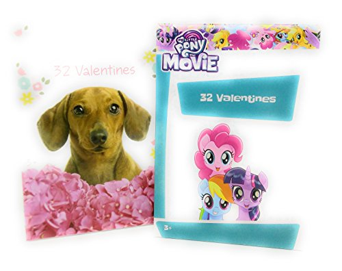 Happy Valentine's Day 32 Cards Puppy Dog with My Little Pony Bundle