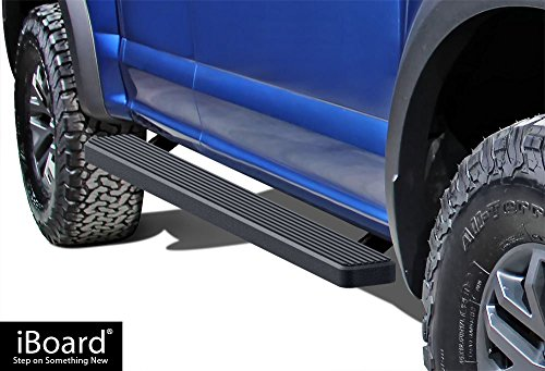 iBoard (Black Powder Coated 5 inches) Running Boards | Nerf Bars | Side Steps | Step Rails For 2015-2018 Ford F150 Super Cab Pickup 4-Door / 2017-2018 Ford F-250/F-350 Super Duty