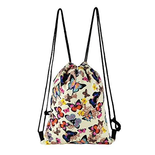 YJYDADA Bag,Fashion Outdoor Sports Casual Satchel Rucksack Bundle Pocket Drawstring Bag (A)