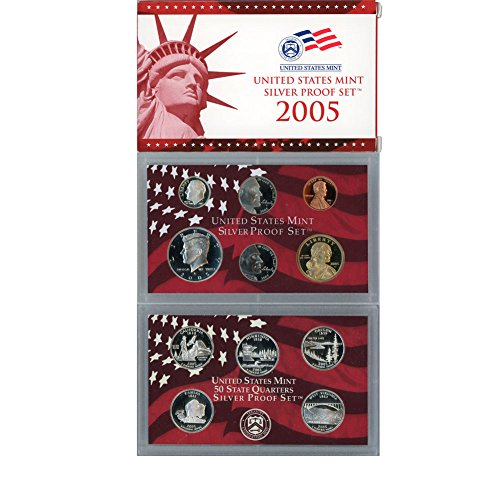 2005 S US Mint 10 Coin Silver Proof Set Original Government Packaging (10 Coin Set)
