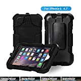 Iphone 6 Waterproof Case, Aceguarder Apple Iphone 6 Waterproof Case -Apple Iphone 6 Fitted Waterproof Shock Proof Dust Proof Dirt Proof Snow Proof Hard Shell Cover Case for Iphone 6 4.7