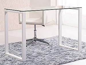 Mesa de estudio benetto xl cristal transparente y patas for Mesa cristal estudio