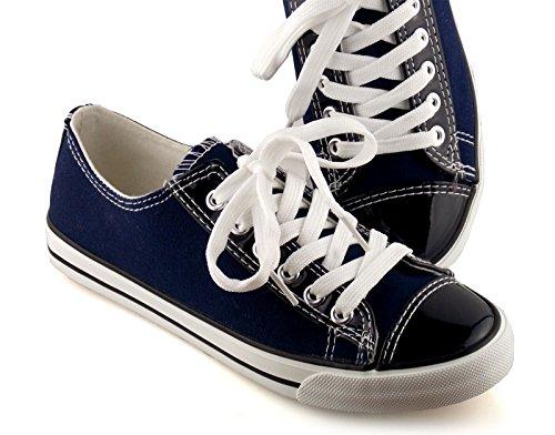 Damen Sneaker mit Lack Blau