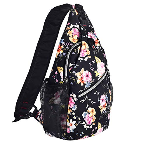 MOSISO Rope Sling Backpack (Up to 13 Inch), Multipurpose Crossbody Chest Shoulder Outdoor Travel Hiking Daypack with Printed Pattern