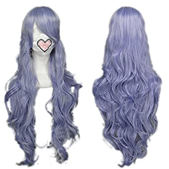 Vocaloid Megurine Luka Curly Wavy Wigs Purple Costume Wig