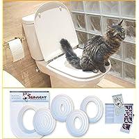 Servicat - Kit d'instruction pour éduquer votre chat à utiliser les toilettes. Éduquez votre chat dans 5 petites étapes.
