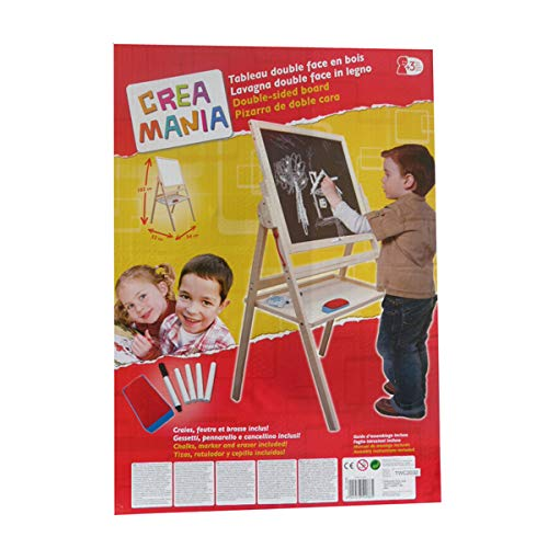 giocheria rdf50085 crea mania lavagna in legno colorato bifacciale magnetica