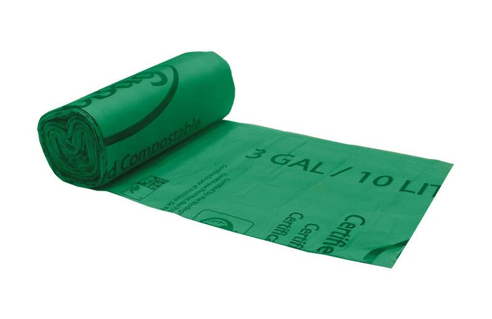 BioBag 3 Gallon Compostable Liners (25 Bags/20 Rolls per Case), 17'' x 18''