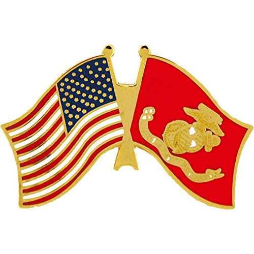 United States And Marine Corps Flag Pin Military Collectibles for Men (Collectable Pin)