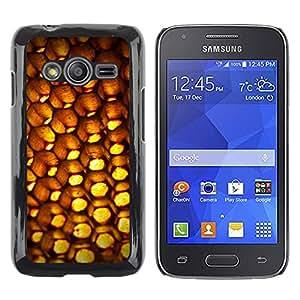 Shell-Star Arte & diseño plástico duro Fundas Cover Cubre Hard Case Cover para Samsung Galaxy Ace4 / Galaxy Ace 4 LTE / SM-G313F ( Abstract Patten Honeycomb )