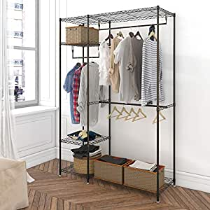 Amazon Com Lifewit Metal Closet Freestanding Garment Rack