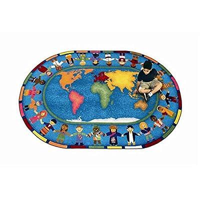 Joy Carpets Hands Around the World Kids Area Rug