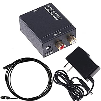 iMeshbean Premium Digital to Analog Audio Converter with Fiber Optical Cable and Adapter, Convert Coaxial