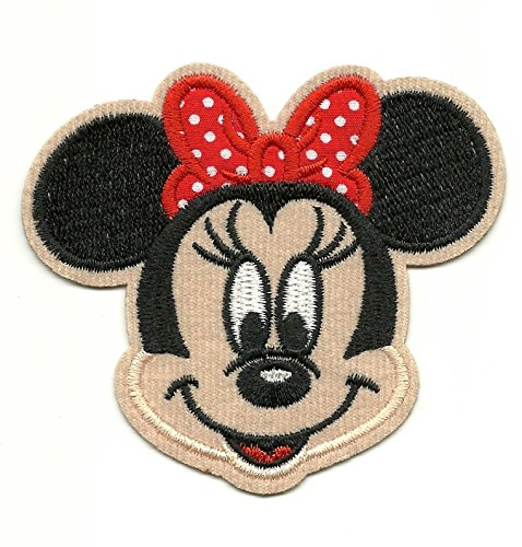 Minnie Mouse Red Polka Dot Bow Iron On/Embroidered Patch