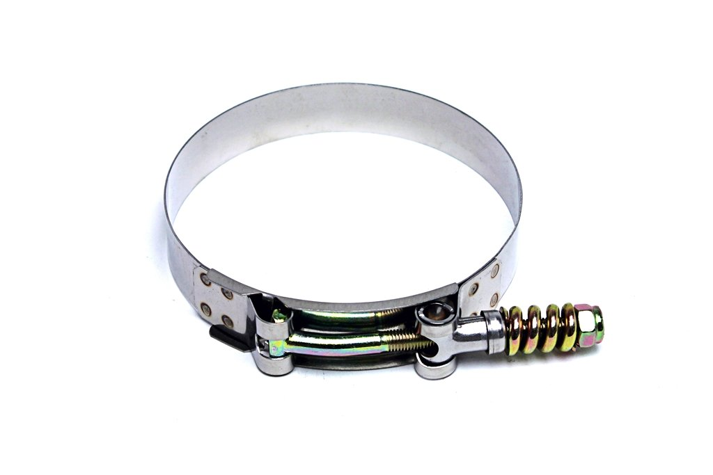 HPS SLTC-400 Spring Loaded Stainless Steel T-Bolt Clamp SAE 100 for 3.75 ID Hose 1 Piece Polish Effective Size 4-4.33