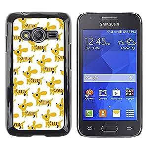TopCaseStore / la caja del caucho duro de la cubierta de protección de la piel - Dog Pet Mustard White - Samsung Galaxy Ace 4 G313 SM-G313F