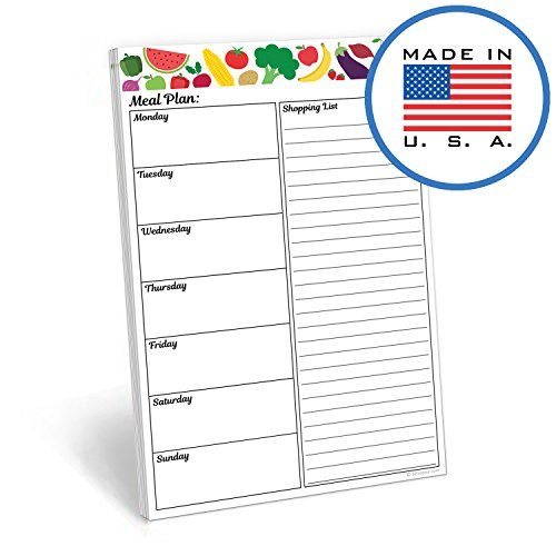 321Done Meal Planning Pad - 50 Sheets (5.5