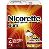 Nicorette Nicotine Gum Cinnamon Surge 4 milligram Stop Smoking Aid 160 count