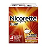 Nicorette Nicotine Gum to Stop Smoking, 4mg, Cinnamon Surge, 160 count