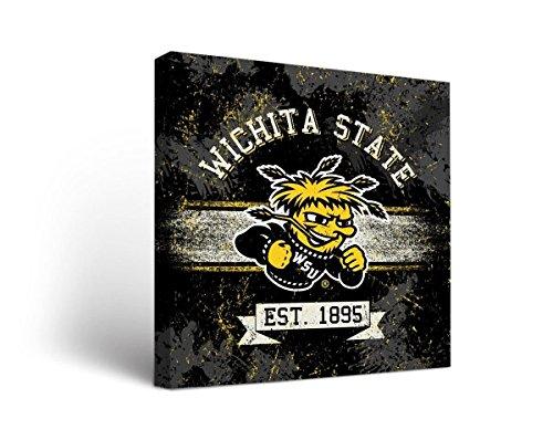 (Victory Tailgate Wichita State University Shockers Canvas Wall Art Banner (12x12))