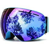 JULI Ski Goggles,The Most Professional Partner for Skiing,Snowboarding&Snowmoblie.Detachable Lens SystemThe detachable lens system offers spare lenses with different colors,VLTs suitable for different weather conditions and personal prefe...