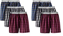 Fruit of the Loom Boys 5-Pack Assorted Woven Boxers - Style 5PB550 (Large)