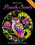 img - for Lovely Swirls Coloring Book for Adults Black Background book / textbook / text book