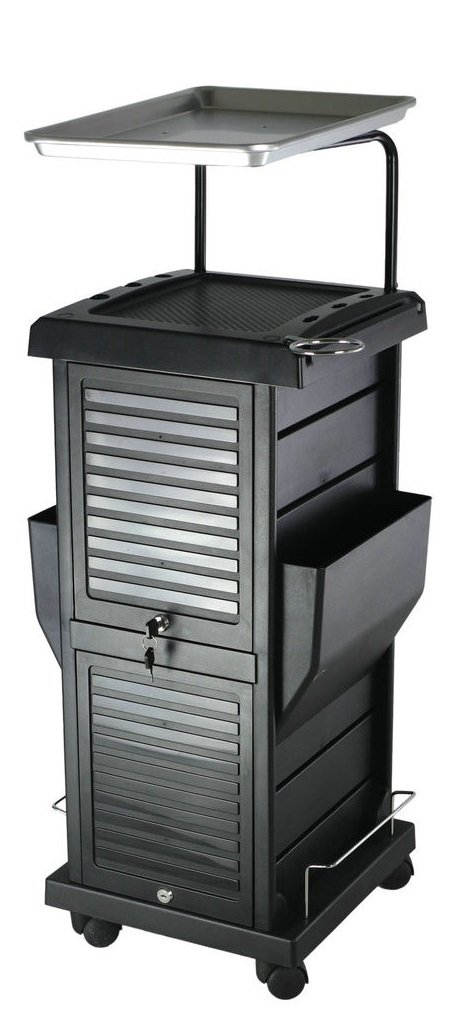 TekNoh - 8 Tier - 6 Tray - Lockable - DynastyPro Deluxe Salon Rolling Storage Trolley - Hairdressers Hairdressing Spa Hair Stylist Beauty Barber Cart Drawers Roller Lock Secure TR-01-DPD