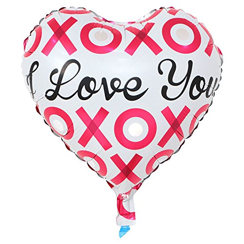 1 18in Foil helium//air Heart Balloons For anniversary valentines day wedding dates Stylish classy balloons I love you balloons valentines decorations heart shaped balloons red pink rose white//black