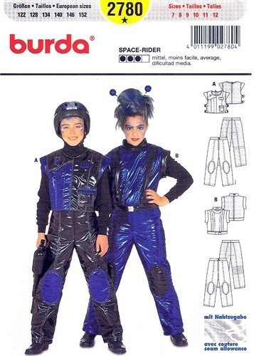 Astronaut Costume Pattern (Burda 2780 Child's Costume Pattern, Astronaut, Space-rider, Size 7 to 12)