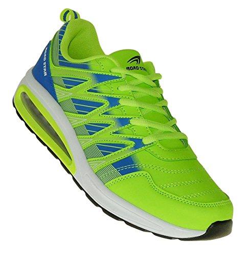 Art 228 Neon Turnschuhe Schuhe Sneaker Sportschuhe Luftpolster Neu Herren