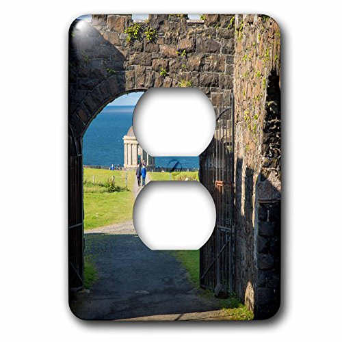 3dRose Danita Delimont - Northern Ireland - Mussenden Temple, Downhill Demesne near Castlerock, Northern Ireland - Light Switch Covers - 2 plug outlet cover - Castlerock Outlet