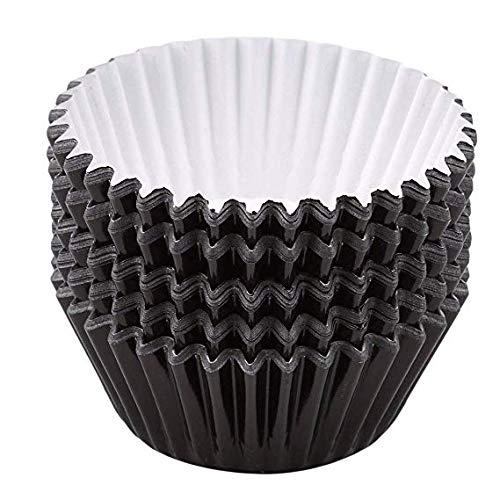 Askdasu 100/pcs//lot Noir Mini en feuille daluminium papier caissettes Mariage Sacs Wrapper Muffin Moules de cuisson