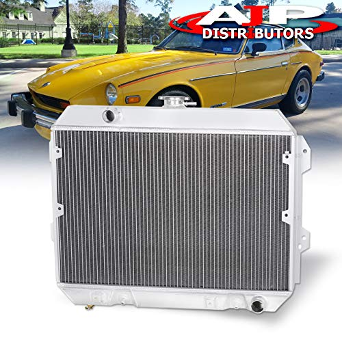 AJP Distributors JDM 3-Row/Core Full Performance Engine Racing Aluminum Radiator For 1975 1976 1977 1978 Nissan Datsun 280Z Fairlady Z 75 76 77 78 Upgrade Replacement Drift S130 ()