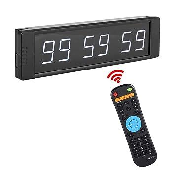 a8aa88094cb8 Garosa 1 in Reloj LED Cronómetro Multifuncional Portátil Cuenta Atrás Reloj  De Alarma Montado En La Pared Temporizador De Conferencia Electrónico(EU)   ...