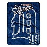 The Northwest Company MLB Detroit Tigers Micro Raschel Plush Throw Blanket, Trip Play Design