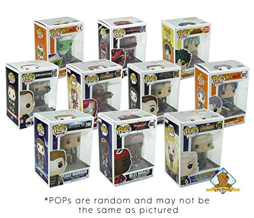 Funko POP Mystery Starter Bundle Pack Set of 6! 6 Random Pops No Duplication! Includes 6 Plastic Protector Cases! Bundle Produced Golden Groundhog!