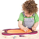 B. toys – Water Doodler Portable Drawing Board – Natural Drawing Pad for Kids – Perfect Travel Toys for Toddlers – 100% Non-Toxic and BPA-Free