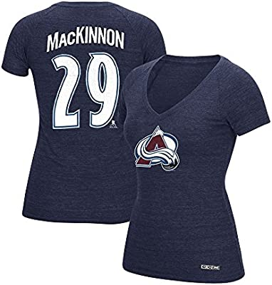 20b97874e73 Amazon.com   CCM Nathan MacKinnon Colorado Avalanche V-Neck N N Jersey T- Shirt Women s   Sports   Outdoors