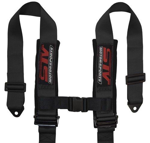 STVMotorsports 5 Point 3'' Straps Seat Harness Set Latch and Link Shoulder Pads RH5.3H - for Off-Road Vehicles, UTV, Trucks (Pair) (Black) by STVMotorsports (Image #4)