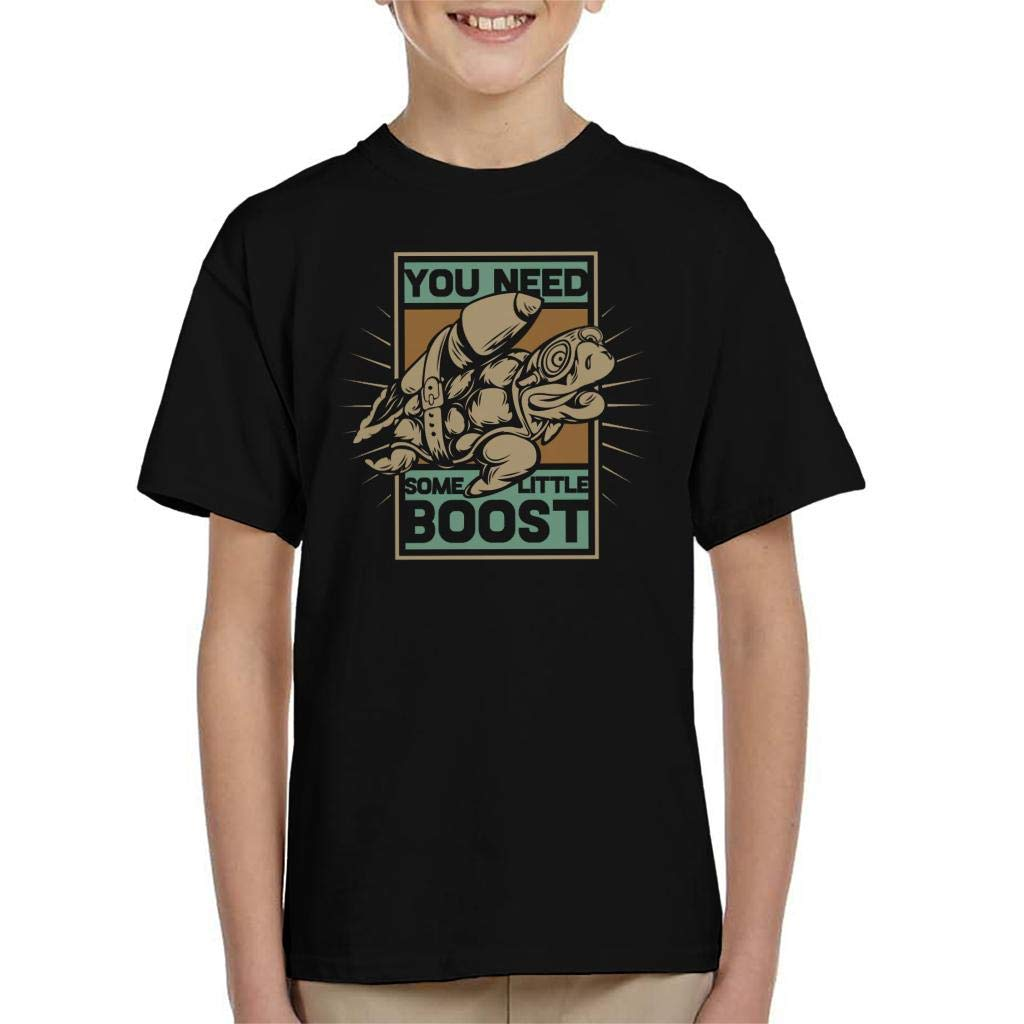 Turtle Jetpack Need Some Boost Kids T-Shirt