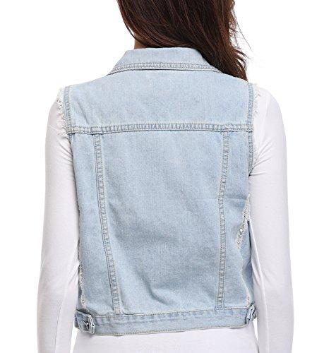 Boutonn Veste Jean Femmes Denim Womens Jacket CaFX87qw