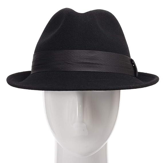 d416967f8922d Wool Felt Trilby Snap Brim Fedora Hat at Amazon Men s Clothing store
