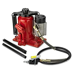 Tooluxe 31010L Low Profile Air Hydraulic Bottle Jack | 20-Ton Capacity