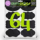64 Large CHALKBOARD LABELS - Premium Quality - 3œ x 2 Fancy Adhesive Stickers