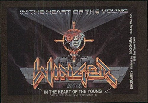1991 Rock Cards Art Stickers #9 In the Heart of the Young (Winger) - NM-MT Sport 9 Heart