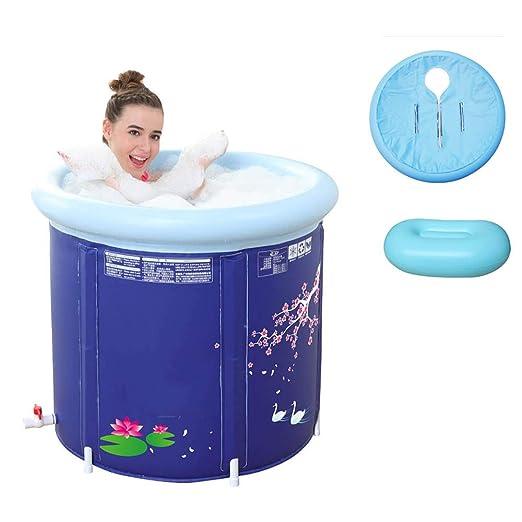 Bathtub Bañera Inflable portátil PVC Cubierta Aislante Gruesa ...